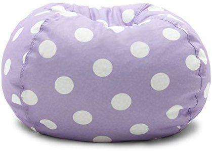 Amazon Com Big Joe 0630252 Lavender Polka Dot Classic Bean Bag Chair Lavendar With White Kitchen Dining Purple Bags Bean Bag Chair Pink Candy