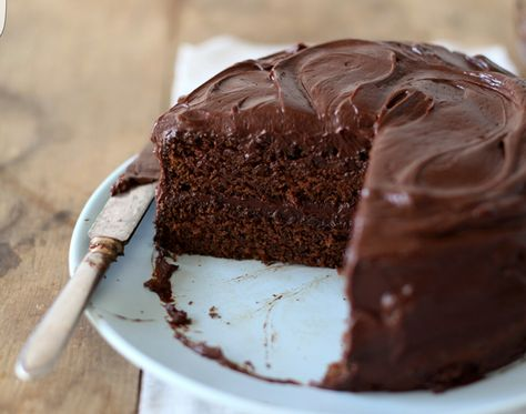 There's a vegan chocolate cake to die for , it is amazing , moist and light ... But I use coconut oil instead of reg oil 1 12/ cups flour 1 cup sugar  1/4 coco powder  1tsp baking soda 1/2 tsp salt 1/3 cup oil ( can use coconut oil) 1tsp vanilla extract  1tsp distilled white vinegar  1cup water  Mix all dry ingredients together, add wet and stir till smooth cook at 350 for 40mins , if making cupcakes 20 mins ...,  there is an amazing vegan coconut buttercream icing recipe on vegan8 website