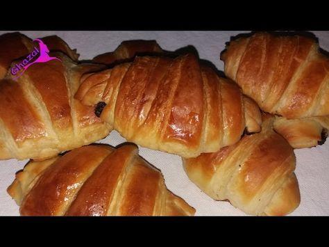 كرواسون اسهل و اسرع و انجح طريقة لعمل الكرواسون باقل نسبة دهون مضمونة 100 مع رباح الحلقة 203 Youtube Food Bakery Bread