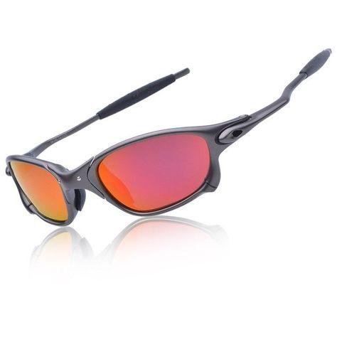 X-Metal Juliet Cyclops Sunglasses Ruby Red Polarized Lenses TITANIUM Goggles