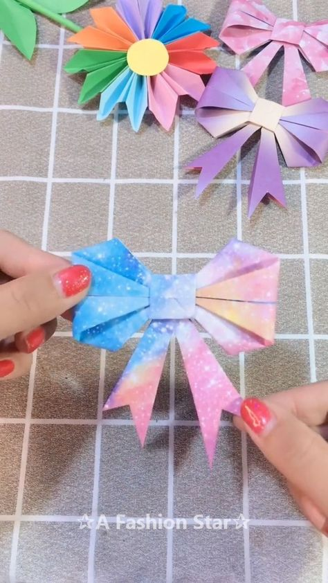 Beautiful Bow-Knot Origami Idea  DIY  A Fashion Star  ORIGAMI