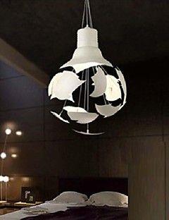 vedhæng lys 1 lys mode maleri metal aluminium