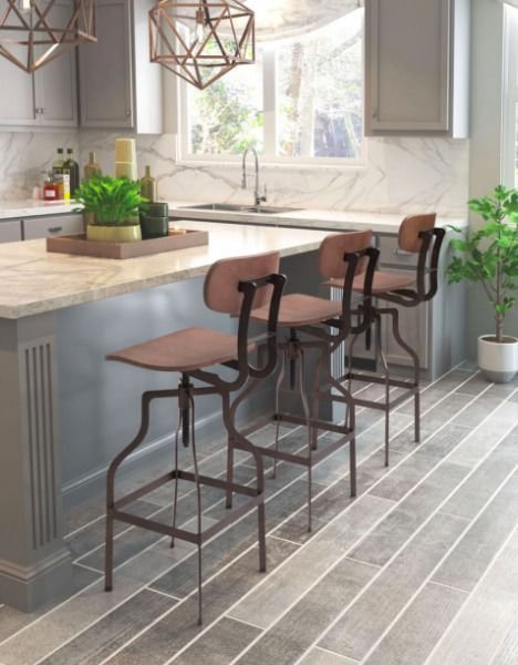 Adjustable Farmhouse Bar Stools Industrial Kitchen Living Room Modern Furniture Zuo Modern Farmhouse Bar Stools Living Room Stools Bar Stools