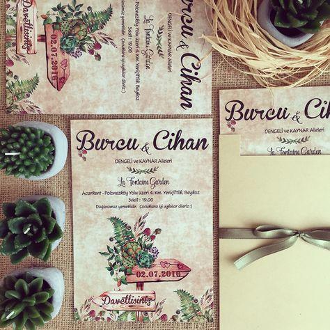 Davetiye / Wedding invitation www.masalsiatolye.com #masalsiatolye #davetiye #weddinginvitation #vintage #bahar #spring