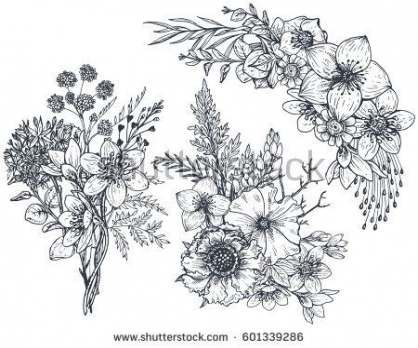 67 Best Ideas For Flowers Illustration Black And White Hand Drawn Hand Drawn Flowers Flower Drawing Design Flower Drawing