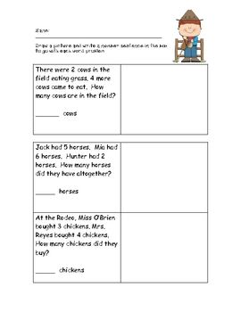 Cowboy Word Problems Word Problems Word Problem Practice Math Problem Solving Mixed word problems worksheets for