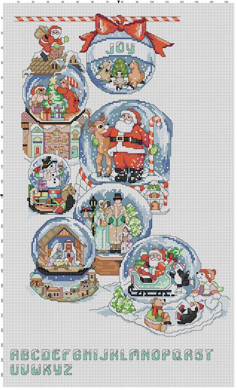 Snow Dome Collection by Stitchluv on Etsy