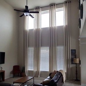 Extra Long Natural Linen Curtains Drapes Custom Made 10 12 Etsy In 2020 Long Curtains Living Room Living Room Drapes High Ceiling Living Room