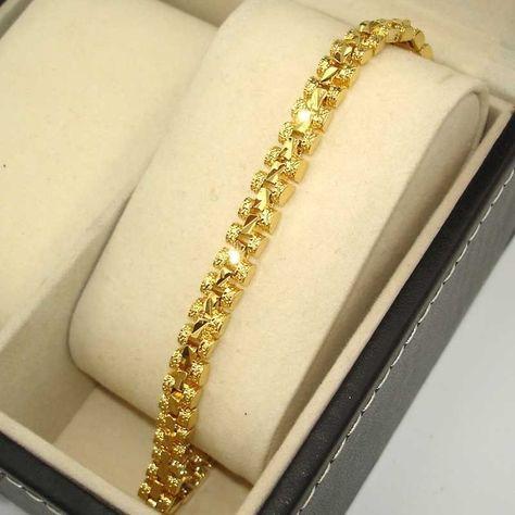 18k Yellow Gold Filled Unisex Fashion Bangle Bracelet Superb Jewelry