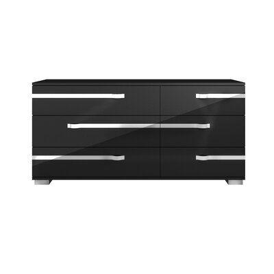 Quiana 6 Drawer Double Dresser Orren Ellis Double Dresser Dresser Drawers