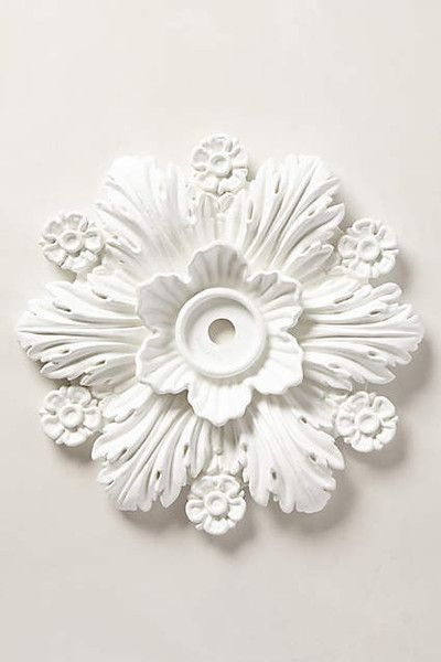 50 Cool Decorating Pieces Under $50 from Anthropologie  Up: Cartouche Ceiling Medallion, $48