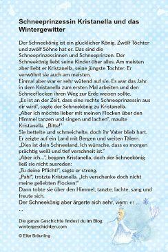 Kristanella Und Das Wintergewitter Winterzeit Geschichten Fur Kinder Kindergeschichten Spruche Gluck