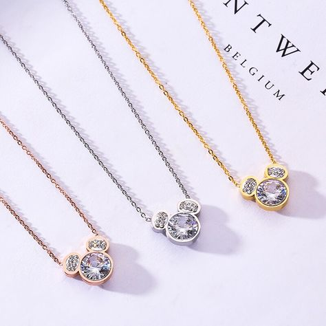 Buy TSHOU56 Fashioninlaid zircon bear pendant Titanium steel rose gold clavicle chain necklace jewelry at Factory Direct Price. Free or Low-cost Worldwide Shipping. Many of choice in our best Fashion Jewelry category with cheapest price on Pricetug