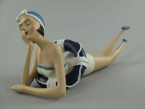 Badefigur Betty Nostalgie Figur Frau Im Badeanzug Vintage Retro
