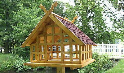 Details Zu Xxl Fachwerk Vogelhaus Spreewald I Schlangenkopfe Schindeldach In Rot In 2020 Vogelhauschen Fachwerk Wikinger Haus