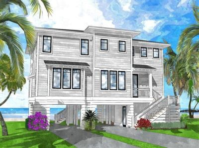 Elevated Piling And Stilt House Plans Page 18 Of 55 Coastal Home Plans In 2020 House On Stilts Stilt House Plans Beach House Plans