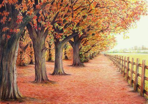 63 Trendy Ideas Drawing Ideas Landscape Perspective Landscape Sketch Landscape Pencil Drawings Color Pencil Sketch