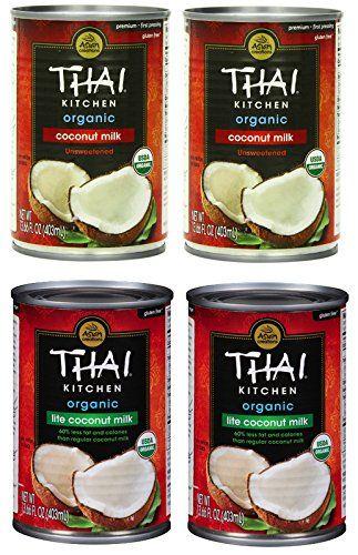 Assorted Thai Kitchen Organic Coconut Milk Variety Pack 4 Count