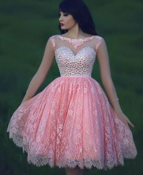598a632695a Pink Vestidos De Festa Lace Cocktail Dress Plus Size Special Dresses Puffy  Short Crystals Corset Pageant Party Gowns E201632