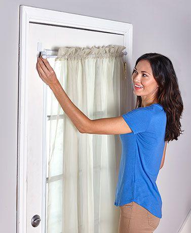 door curtains diy magnetic curtain rods