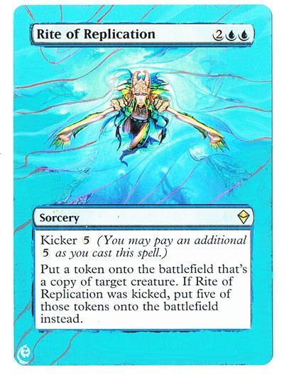 RITE OF REPLICATION NM mtg Commander 2014 Blue Sorcery Rare