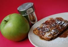 Apple German Pancakes with Brown Sugar Buttermilk Syrup | Apple chips, powdered milk, and flour are the basis for this recipe, perfect for a delicious breakfast that's a little out of the ordinary. | Food Storage Recipes