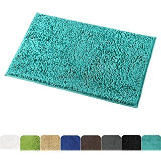 Mayshine Non Slip Bathroom Rug Shag Shower Mat Machine Washable