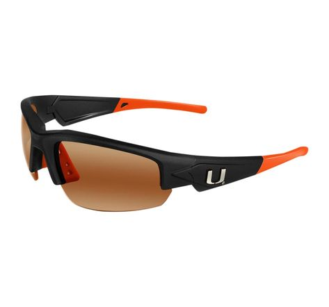 ea66a83584f The Miami Hurricanes Dynasty 2.0 is a sports frame sunglass for men and  women of all ages. This sleek sunglass features Black Frame with Team  Colored Tips ...