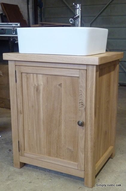 rustic oak bathroom furniture. Rustic Oak Free Standing Wash Stand With Large Door  bathroom Pinterest stand Doors and furniture