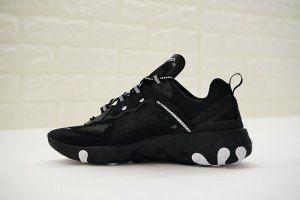 Mens Womens Shoes Nike React Element 87 BlackWhite AQ1813