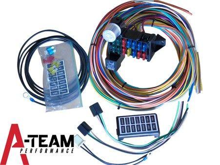 new 14 circuit basic wire kit small wiring harness rat street rod rh pinterest com Classic Car Wiring Harness EZ Wiring Harness Kit