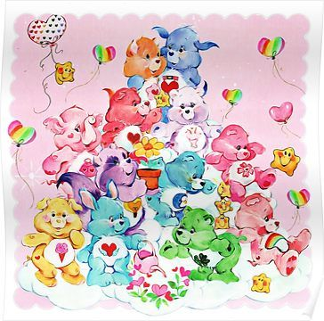 'Care Bear, Care Bear Cousins, Retro 80s Cartoon Cute' Poster by RainbowRetro