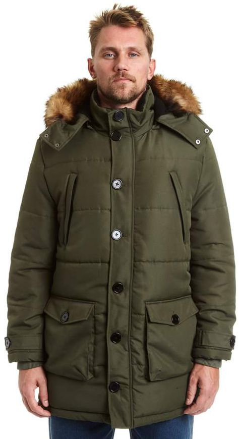 93a0649a741aa Big   Tall Excelled Faux-Fur Hooded Parka in 2018