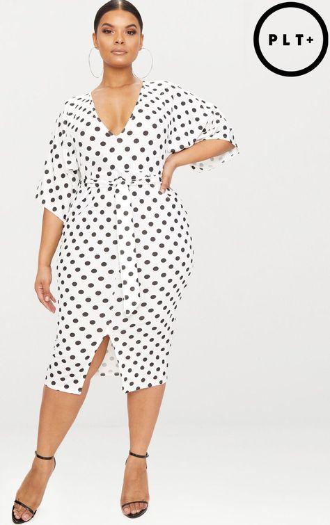Plus Size Button Detail Mermaid Skirt