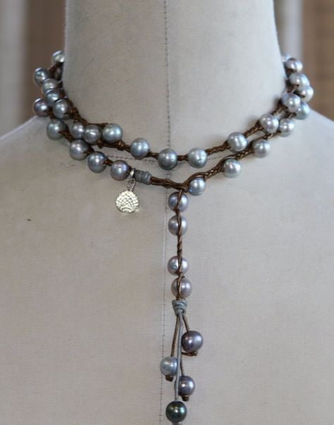 Hey, I found this really awesome Etsy listing at http://www.etsy.com/listing/108251830/pearls-leather-necklace