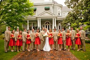 bright rhubarb or deep persimmon bridesmaid dress- have you seen ...