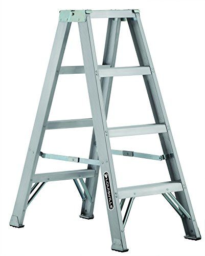Louisville Ladder Am1003 300 Pound Duty Rating Aluminum Twin Front Step Ladder 3 Foot For Sale Step Ladders Front Steps Ladder