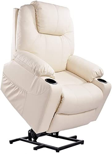 New Furgle Power Lift Recliner Chair Massage Heat Vibration Elderly Massage Recliner Tuv Certified Living Room Lounge Sofa Faux Leather 2 Remotes Side Pock In 2020 Recliner Recliner Chair Lift Recliners