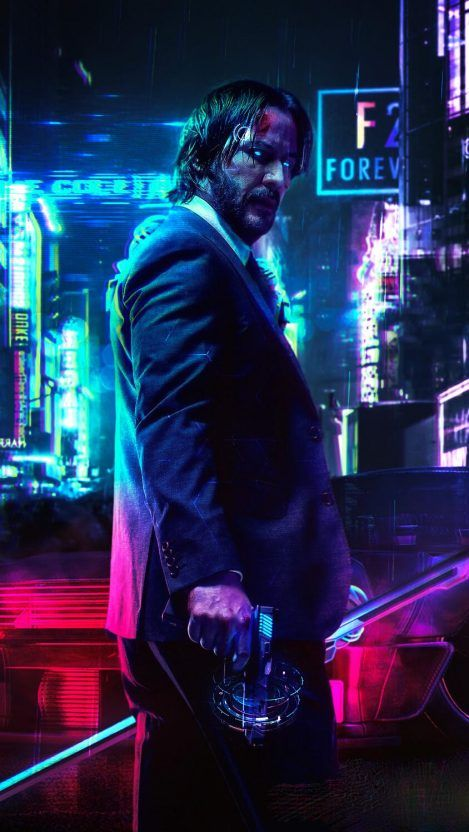 Cyberpunk 2077 Keanu John Wick Iphone Wallpaper Iphone Wallpapers Cyberpunk 2077 Cyberpunk Keanu Reeves