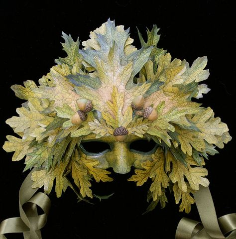 leaf mask, by art of the mask, via their etsy (formerly (?) by leah and shane odom of mythicaldesigns)