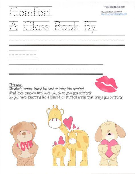 Comfort Class Book Classroom Freebies Kissing Hand Activities