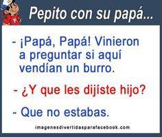 Chistes Cortos De Pepito En Letra Chistes Para Facebook Gratis Pepito Jokes Language Jokes Spanish Jokes
