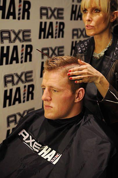 Hair Spokestylist Amy K Gives Defensive End J J Watt A Spiked Up In 2020 Axe Hair Products Hair Watt