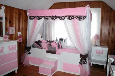 white beds for girls | Girl canopy beds | Trundle bed