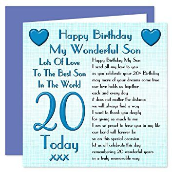 Image Result For Happy 20th Birthday To My Son