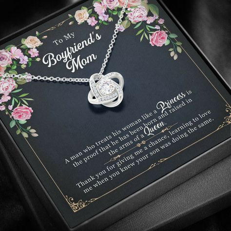 Gift for Boyfriend's Mom, Boyfriend's Mother Birthday Gift, Boyfriends Mom Gift, Boyfriend's Mom Necklace with Message Card