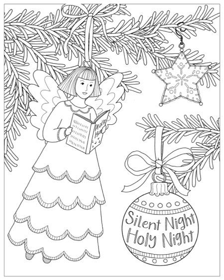 Color Christmas Coloring Book By Thaneeya Mcardle Christmas Coloring Books Christmas Coloring Sheets Christmas Coloring Pages