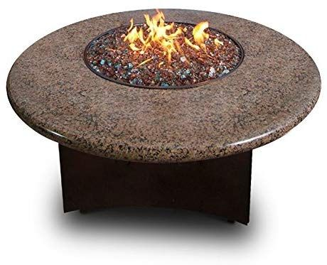 Oriflamme Gas Fire Table Propane 75 000 Btu Heat Output Round Square Octagon Tropical Brown Granite 48 Quot R Gas Firepit Fire Table Propane Glass Fire Pit