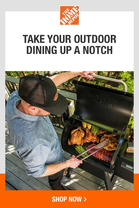 Get ready to host unforgettable summer meals in your own back yard. The Home Depot has the outdoor cooking and grilling essentials and accessories you need to enjoy more meals outdoors. Make the perfect grill marks, set an inviting table and keep the drinks ice cold. Tap to get started with The Home Depot today.