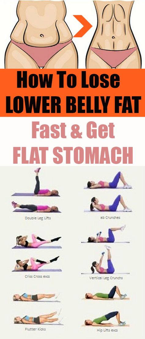 How lose lower belly fat fast